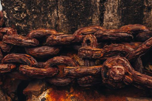 Free Stock Photo of Corroded Chain Texture