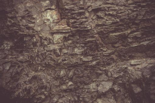 Free Stock Photo of Vintage Basalt Rock Wall