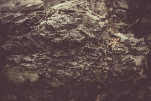 Free Stock Photo of Vintage Basalt Rock