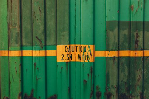 Free Stock Photo of Green Rusted Shipping Container