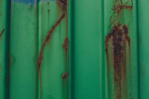 Free Stock Photo of Green Rusted Metal Texture