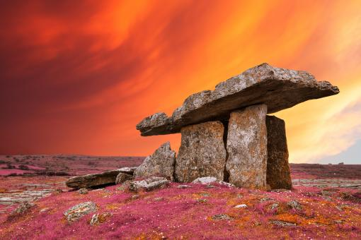 Free Stock Photo of Poulnabrone Pastel Rapture