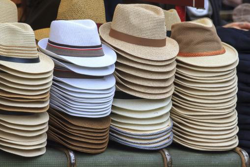 Free Stock Photo of Summer Hats