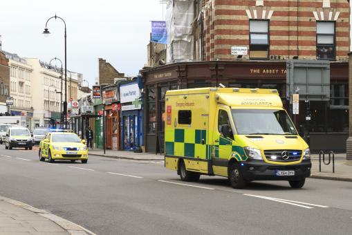 Free Stock Photo of Emergency Ambulance