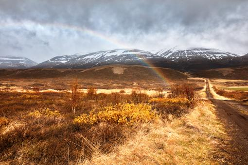 Free Stock Photo of Iceland Mountain Rainbow