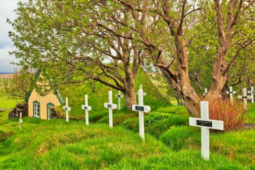 Free Stock Photo of Hof Turf Church & Cemetery