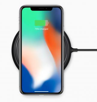 Free Stock Photo of iPhone X Charging