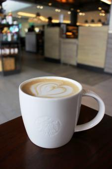 Free Stock Photo of Cup of hot coffee in Starbucks