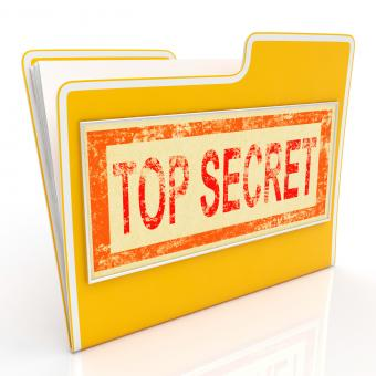 Free Stock Photo of Top Secret File Shows Private Folder Or Files