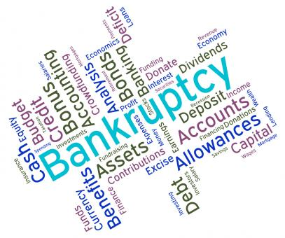 Free Stock Photo of Bankruptcy Word Indicates In Debt And Owing