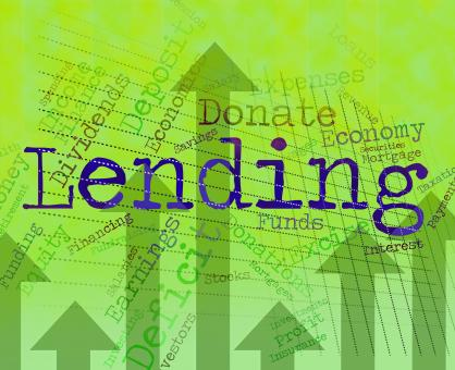 Free Stock Photo of Lending Word Indicates Bank Loan And Advance