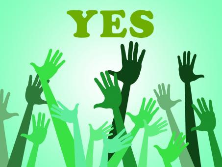 Free Stock Photo of Yes Hands Means All Right And OK