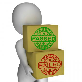 Free Stock Photo of Passed And Failed Boxes Mean Product Testing Or Validation