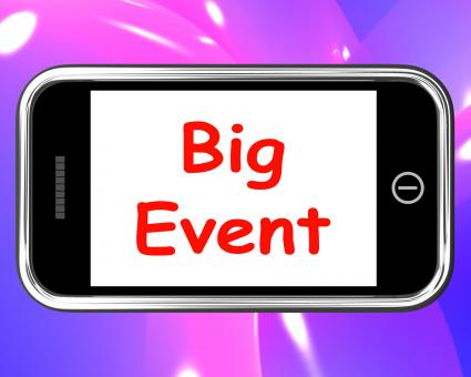 Free Stock Photo of Big Event On Phone Shows Celebration Occasion Festival And Performance