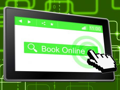 Free Stock Photo of Book Online Shows World Wide Web And Booked