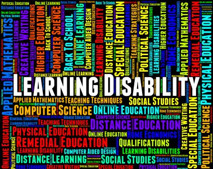 Free Stock Photo of Learning Disability Words Represents Special Needs And Disabled