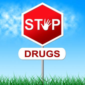 Free Stock Photo of Stop Drugs Represents Warning Sign And Cocaine