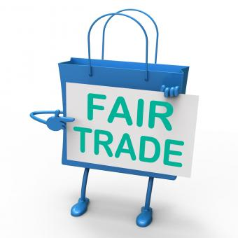 Free Stock Photo of Fair Trade Bag Represents Equal Deals and Exchange