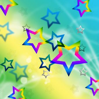 Free Stock Photo of Beach Stars Background Means Shining In Sky