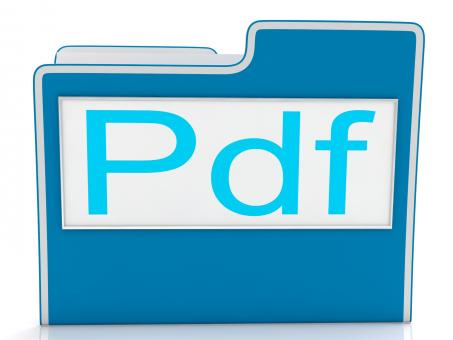 Free Stock Photo of Pdf File Shows Document Format Or Files