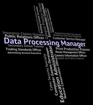 Free Stock Photo of Data Processing Manager Means Hire Work And Occupation