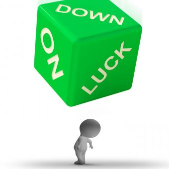 Free Stock Photo of Down On Luck Dice Means Failure And Losing
