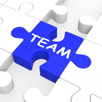 Free Stock Photo of Team Puzzle Shows Team Work
