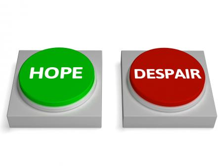 Free Stock Photo of Hope Despair Buttons Show Hopelessness Or Hopeful