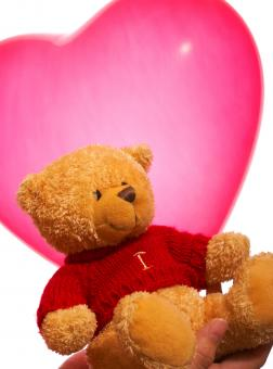 Free Stock Photo of Valentine Teddy Bear Gift Or Present