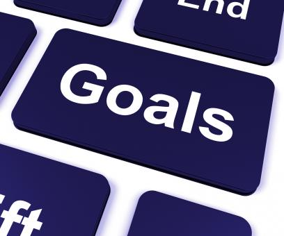 Free Stock Photo of Goals Key Shows Aims Objectives Or Aspirations