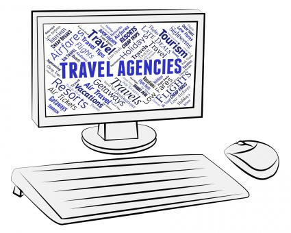 Free Stock Photo of Travel Agencies Indicates Holiday Trips And Tours