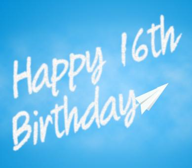 Free Stock Photo of Happy Sixteenth Birthday Means 16th Greeting Celebration