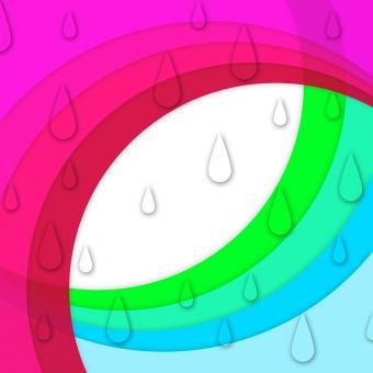 Free Stock Photo of Colorful Curves Background Shows Sloping Lines And Water Drops