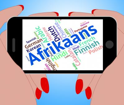 Free Stock Photo of Afrikaans Word Represents Foreign Language And Communication