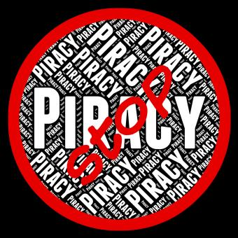Free Stock Photo of Stop Piracy Means Warning Sign And Danger
