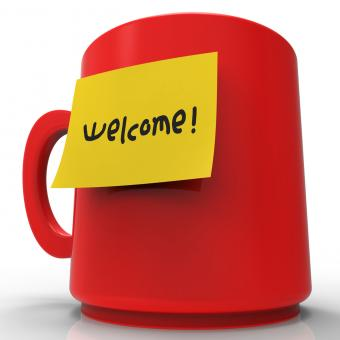 Free Stock Photo of Welcome Message Shows Arrival Messages And Correspondence 3d Rendering