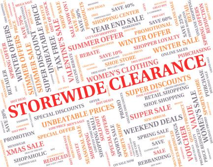 Free Stock Photo of Storewide Clearance Indicates The Lot And Bargain