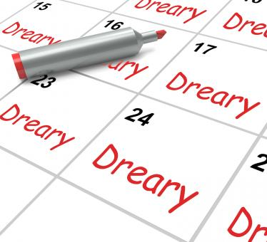 Free Stock Photo of Dreary Calendar Means Monotonous Dull And Uneventful