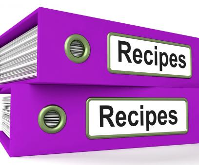 Free Stock Photo of Recipes Folders Means Meals And Cooking Instructions