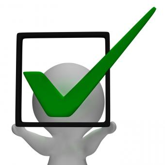 Free Stock Photo of Holding Checkbox Or Check Box Shows Approval Or Checked
