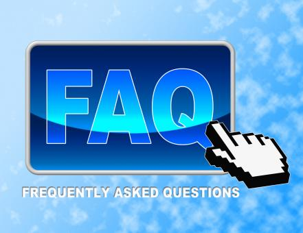 Free Stock Photo of Faq Button Shows Frequently Asked Questions And Answer