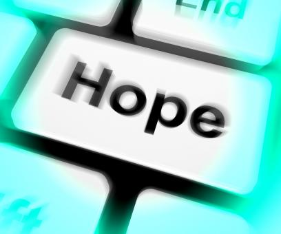 Free Stock Photo of Hope Keyboard Shows Hoping Hopeful Wishing Or Wishful