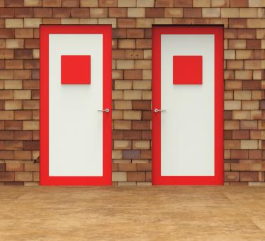 Free Stock Photo of Choice Doors Means Choosing Decision And Doorframe