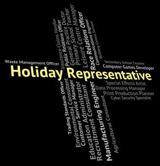 Free Stock Photo of Holiday Representative Means Go On Leave And Career