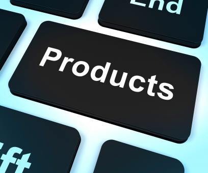 Free Stock Photo of Products Computer Key Showing Internet Shopping Goods