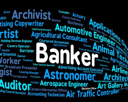 Free Stock Photo of Banker Job Shows Financial Banking And Hiring