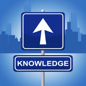 Free Stock Photo of Knowledge Sign Shows Arrows Signboard And Faq