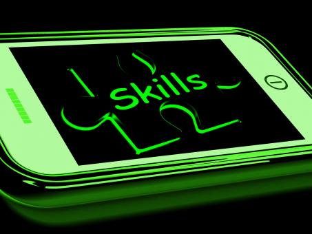 Free Stock Photo of Skills On Smartphone Shows Abilities, And Talents