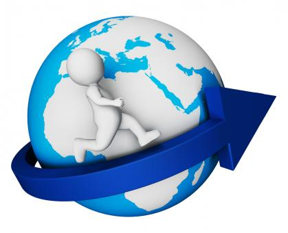 Free Stock Photo of Worldwide Globe Means Render Globally And Globalisation 3d Rendering