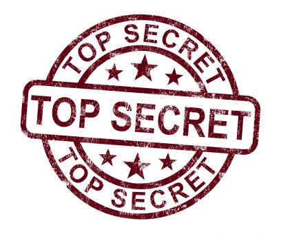 Free Stock Photo of Top Secret Stamp Shows Classified Private Correspondence